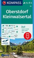KOMPASS Wanderkarte Oberstdorf, Kleinwalsertal