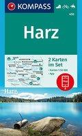 KOMPASS Wanderkarte Harz