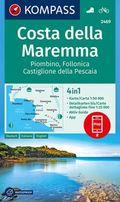 Kompass Karte Costa della Maremma, Piombino, Follonica, Castiglione della Pescaia