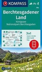 KOMPASS Wanderkarte Berchtesgadener Land, Königssee, Nationalpark Berchtesgaden