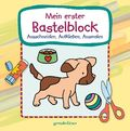 Mein erster Bastelblock - Hundewelpe