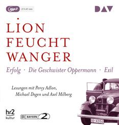 """Die """"Wartesaal""""-Trilogie. Erfolg - Die Geschwister Oppermann - Exil, 3 Audio- CD, MP3"""