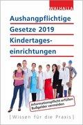 Aushangpflichtige Gesetze 2019 Kindertageseinrichtungen