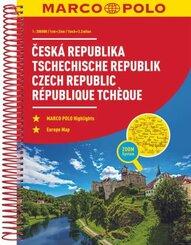 MARCO POLO ReiseAtlas Tschechische Republik 1:200 000; Ceska Republika / Czech Republic / République Tchèque