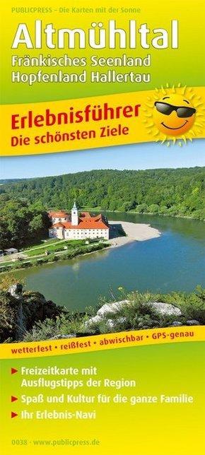 PUBLICPRESS Erlebnisführer Altmühltal, Fränkisches Seenland, Hopfenland Hallertau