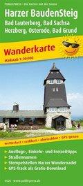 PUBLICPRESS Wanderkarte Harzer BaudenSteig