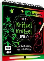 Mein Kritzel-Kratzel-Malbuch - Weihnachten, m. Holzstift