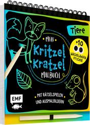 Mein Kritzel-Kratzel-Malbuch - Tiere, m. Holzstift