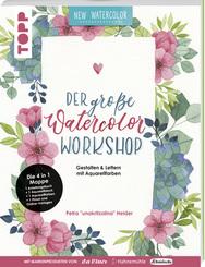 Der große Watercolor Workshop. Gestalten und Lettern mit Aquarell-Farben by unakritzolina