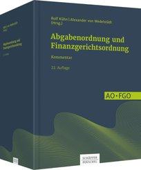 Abgabenordnung (AO) und Finanzgerichtsordnung (FGO), Kommentar