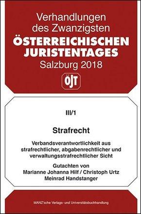 20. Österreichischer Juristentag 2018 Strafrecht