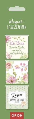 Magnetlesezeichen -  Ein Buch ist wie ein Garten, den man in der Tasche trägt