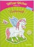 Glitzer-Sticker Malbuch Zauberwald