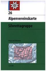 Alpenvereinskarte Silvrettagruppe