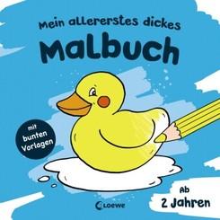 Mein allererstes dickes Malbuch (Badeente)