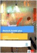 deutsch.kombi plus. Differenzierende Ausgabe ab 2015: 8. Schuljahr, Arbeitsheft Rechtschreibung und Grammatik