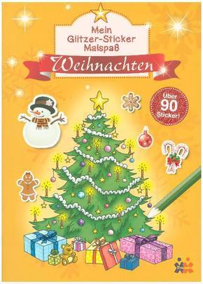Mein Glitzer-Sticker Malspaß - Weihnachten