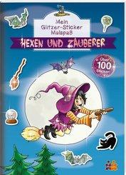 Mein Glitzer-Sticker Malspaß - Hexen und Zauberer