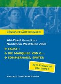 Abi-Paket Grundkurs Nordrhein-Westfalen 2020 - Königs Erläuterungen, 3 Bde.