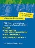 Abi-Paket Leistungskurs Nordrhein-Westfalen 2020 - Königs Erläuterungen, 4 Bde.