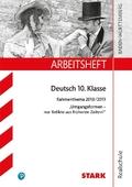 Arbeitsheft Realschule Baden-Württemberg, Deutsch 10. Klasse: Rahmenthema 2018/19 - Umgangsformen, nur Relikte aus frühe