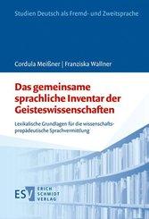 Das gemeinsame sprachliche Inventar der Geisteswissenschaften