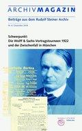 ARCHIVMAGAZIN. Beiträge aus dem Rudolf Steiner Archiv - Nr.8