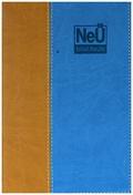NeÜ bibel. heute, Standard zweifarbiges Kunstleder blau/braun