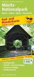 PublicPress Rad- und Wanderkarte Müritz-Nationalpark, Waren - Röbel - Mirow - Neustrelitz