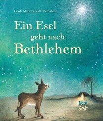 Ein Esel geht nach Bethlehem