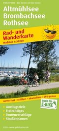 PublicPress Rad- und Wanderkarte Altmühlsee - Brombachsee - Rothsee