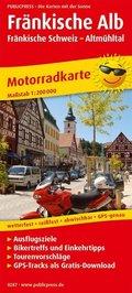PublicPress Motorradkarte Fränkische Alb - Fränkische Schweiz - Altmühltal