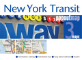 New York Transit Single Popout Map