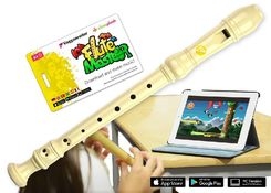 Flute Master (App) mit Blockflöte aus Kunststoff (deutsche Griffweise)