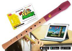 Flute Master (App) mit Blockflöte aus Holz-Kunststoff (barocke Griffweise)