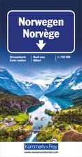 Norwegen Strassenkarte 1:750 000