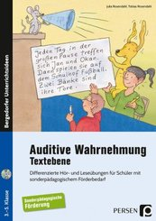 Auditive Wahrnehmung - Textebene, m. Audio-CD