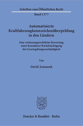 Automatisierte Kraftfahrzeugkennzeichenüberprüfung in den Ländern