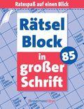 Rätselblock in großer Schrift - Bd.85