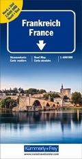 Kümmerly & Frey Karte Frankreich Nord+Süd Strassenkarte 1:600 000