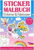 Stickermalbuch Einhörner & Fabelwesen
