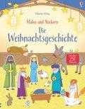 Malen und Stickern: Die Weihnachtsgeschichte