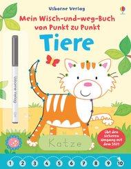 Mein Wisch-und-weg-Buch von Punkt zu Punkt: Tiere