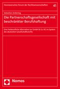Die Partnerschaftsgesellschaft mit beschränkter Berufshaftung