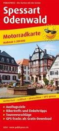 PublicPress Motorradkarte Spessart - Odenwald