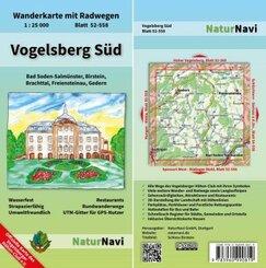 NaturNavi Wanderkarte mit Radwegen Vogelsberg Süd