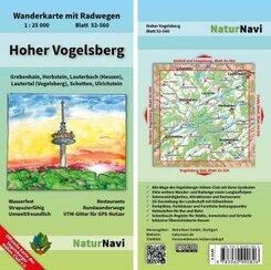 NaturNavi Wanderkarte mit Radwegen Hoher Vogelsberg