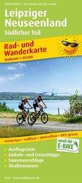 PublicPress Rad- und Wanderkarte Leipziger Neuseenland - Südlicher Teil