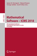 Mathematical Software - ICMS 2018