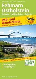 PublicPress Rad- und Wanderkarte Fehmarn - Ostholstein